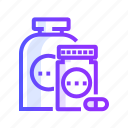 healthcare, medicine, pills, supplement, supplements icon