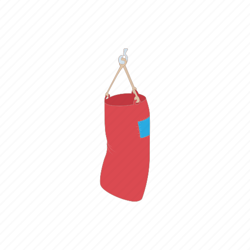 bag, boxing, cartoon, equipment, punching, sport, training icon