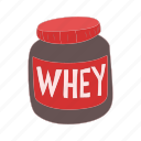 cartoon, diet, fitness, nutrition, protein, sport, supplement icon