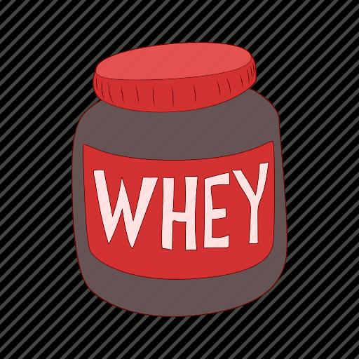 cartoon, diet, fitness, nutrition, protein, sport, supplement icon