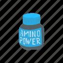 acids, amino, cartoon, diet, nutrition, sport, supplement icon