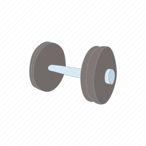athletic, barbell, bodybuilding, cartoon, dumbbell, weight icon