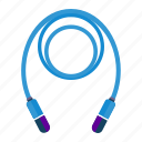jump, rope, workout icon