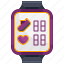 and, heart, rate, smart, smartwatch, sports, watch icon