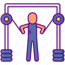 cables, excercise, fitness, workout icon