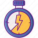 interval, fitness, training icon