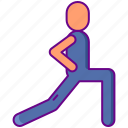 excercise, lunges icon