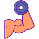 arm, muscular, strength icon