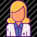 female, nutritionist, woman icon