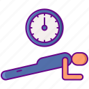 fitness, excercise, plank icon