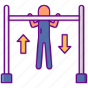 excercise, pull, ups icon