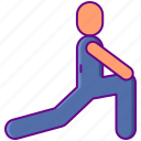 excercise, up, warm icon