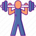 fitness, gym, lifting, weight icon