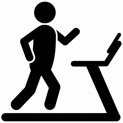 aerobic exercise, gym equipment, personal trainer, running machine, treadmill workout icon