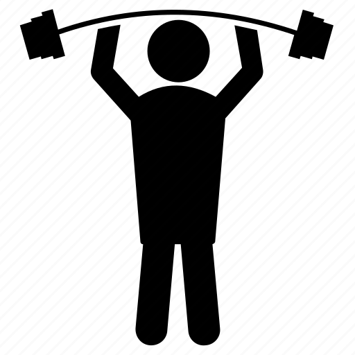 bodybuilding, crossfit exercise, gym, physical exercise, weightlifting icon