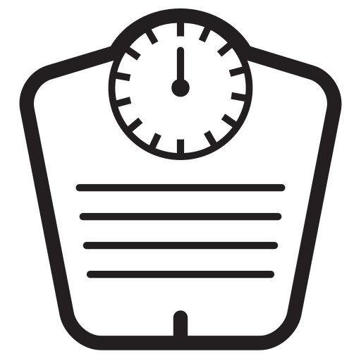body, fitness, scale icon