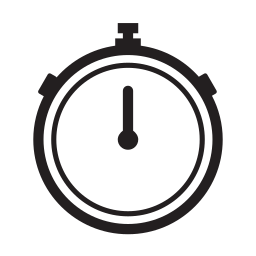exercise, stopwatch, time, timing icon