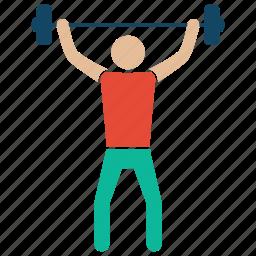 bodybuilder, bodybuilding, fitness, gym, weightlifter icon