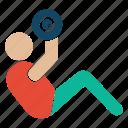bodybuilder, bodybuilding, fitness, gym, gymnastic, weightlifter icon