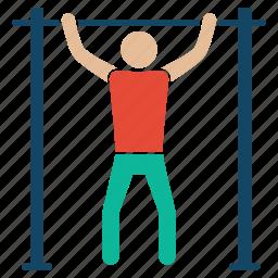 bodybuilder, bodybuilding, excerise, fitness, gym, streching, weightlifter icon