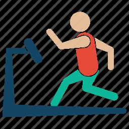 bodybuilder, bodybuilding, excerise, fitness, gym, treadmill, weightlifter icon