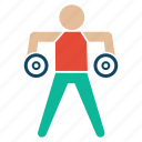 bodybuilder, bodybuilding, excerise, fitness, gym, weightlifter icon