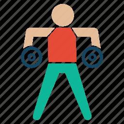 bodybuilder, bodybuilding, excerise, fitness, gym, weightlifter icon