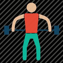 arm, bodybuilder, fitness, gym, weightlifter, weightlifting, workout icon