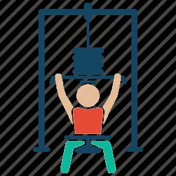 bodybuilder, bodybuilding, fitness, gym, weightlifter, weightpulling, workout icon