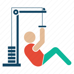 bodybuilder, bodybuilding, exercise, fitness, fitnessstimulator, gym, weightlifter icon