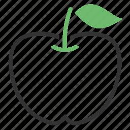 apple, diet icon