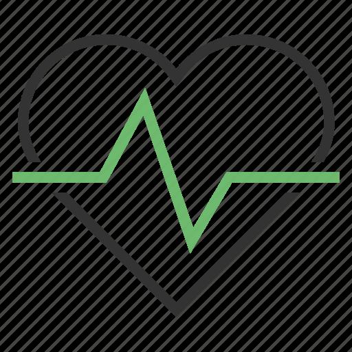 cardio, pulse icon