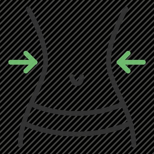 slim, waistline icon
