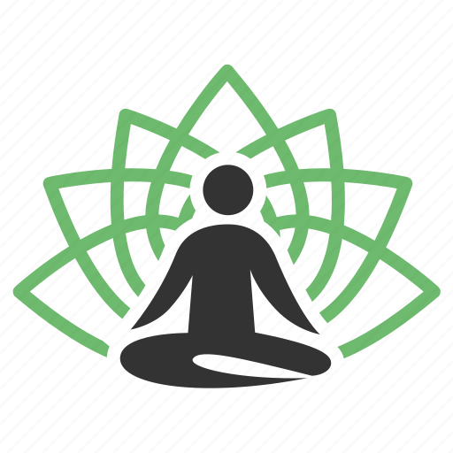 meditation, yoga icon