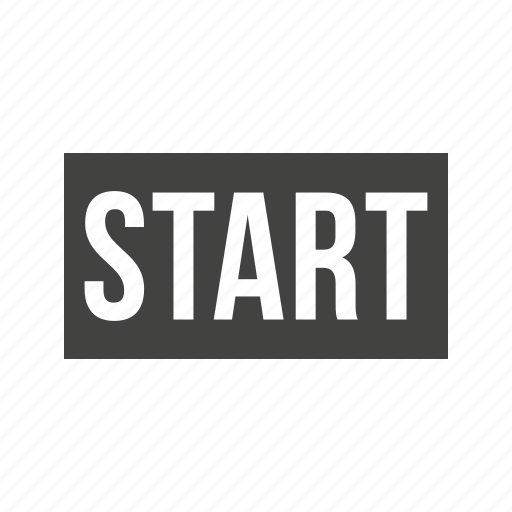 athlete, line, run, running, start, starting, track icon