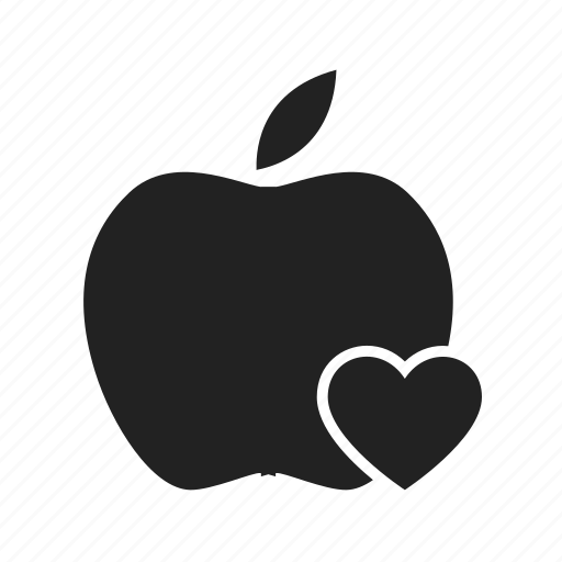apple, fitness, heart, like, love icon