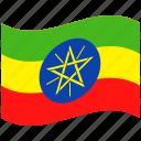 country, ethiopia, flag, national, world