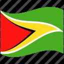 country, flag, guyana, national, world