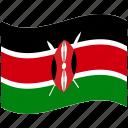 country, flag, kenya, national, world