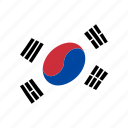 country, flag, national, south korea, world icon
