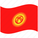 country, flag, kyrgystan, national, world icon