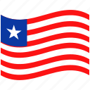 country, flag, liberia, national, world