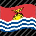 country, flag, kiribati, national, world