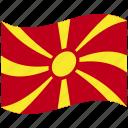 country, flag, macedonia, national, world