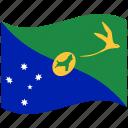 christmas island, country, flag, national, world icon