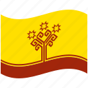 chuvashia, country, flag, national, world icon