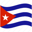 country, cuba, flag, national, world icon