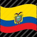 country, ecuador, flag, national, world