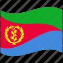 country, eritrea, flag, national, world icon