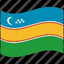 country, flag, karakalpakstan, national, world icon
